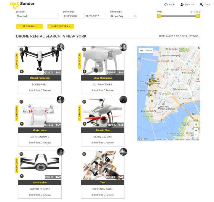 On-demand drone booking marketplace Up Sonder opens for business – Drone360mag.com – January 24, 2017